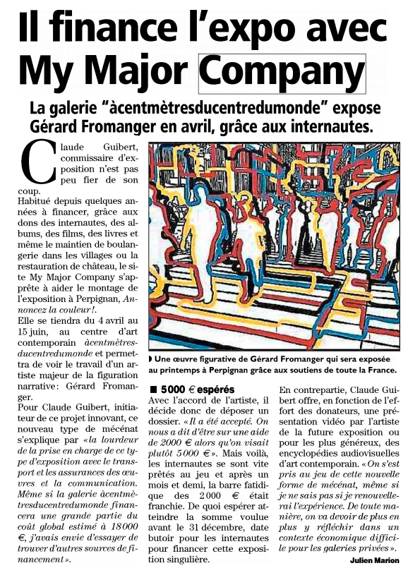 L'indépendant de Perpignan  octobre 2013