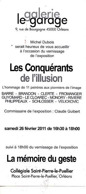 Les Conquérants de l'illusion Galerie le Garage 2011