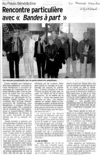 Le Courrier Cauchois 25 mars 2006
