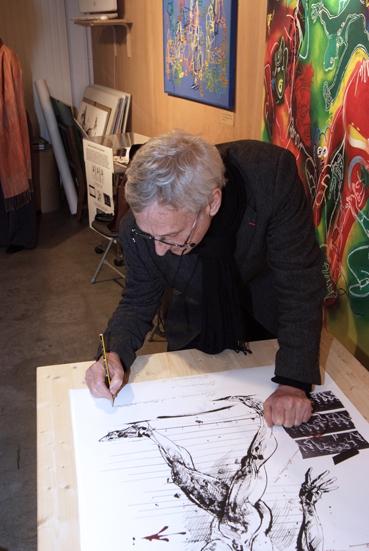 Vladimir Velickovic La mémoire du geste Galerie Le Garage 2008