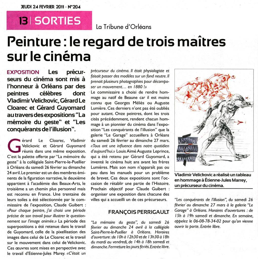 La Tribune d'Orléans  24 février 2011