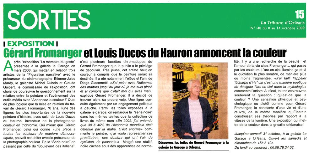 La Tribune d'Orléans 8 Octobre 2009