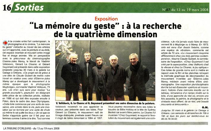 La Tribune d'Orléans 13 mars 2008