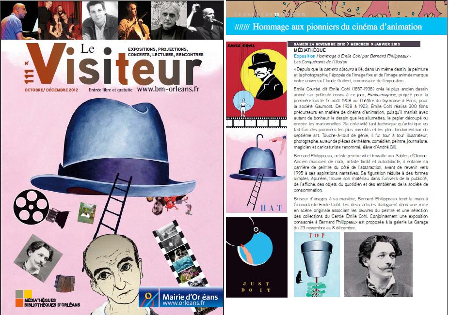 Le Visiteur Bulletin de la médiathèque d'Orléans 2012