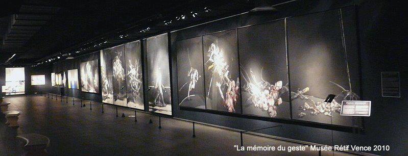 """""""La mémoire du geste"""" Musée Rétif Vence 2010"""